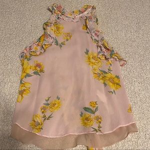 Zara Sunflower and Blush Color Top with Ruffles